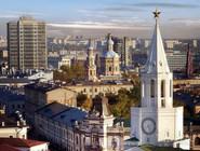 Вид на башню Казанского кремля