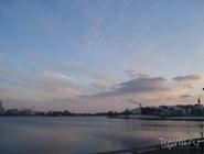 Вид на озеро Кабан от театра Камала