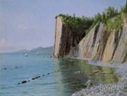 Картина Александра Киселева, изображающая скалу, названную позднее в его честь