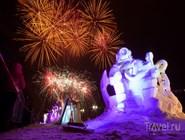 Конкурс снежных и ледовых скульптур в рамках фестиваля Гиперборея