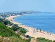 Пляж рядом с Темрюком
