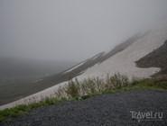На Арманьском перевале летом лежит снег