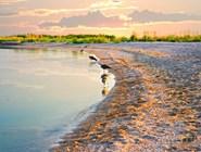 Закат на острове в Азовском море, куда можно отправиться с экскурсией