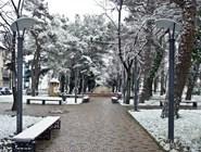 В парке Геленджика зимой
