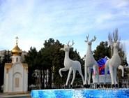 Новогодние декорации в Анапе