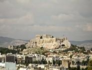 Вид на Акрополь и Парфенон
