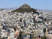 Вид на Ликавитос и современную часть города