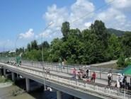 Мост через реку Псоу. Граница Абхазии