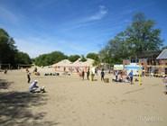 Площадка для пляжного волейбола в Зеленоградске