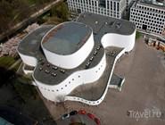 Düsseldorfer Schauspielhaus с высоты птичьего полета