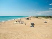 Вид на главный пляж Благи в сторону Бугазской косы