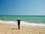 Центральный пляж Благовещенской регулярно убирают