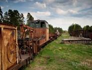 Жезезнодорожный состав в музее паровозов