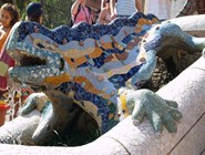 Игуана - символ парка Гуэль
