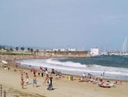 Пляж в районе Барселонета
