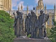 Памятник гражданам Кале работы Огюста Родена