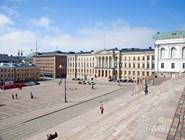 Вид Сенатской площади со ступеней собора Святого Николая