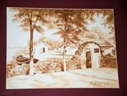 Картина, написанная вином