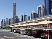 Крытая парковка в районе Sheikh Zayed Road