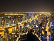 Дубай-Марина с высоты птичьего полета