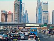 Интенсивность дорожного движения по Шейх-Зайед-роуд