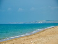 Пляж на Бугазской косе со стороны Веселовки