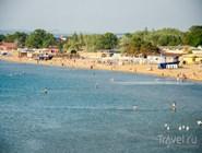 Вид на центральный пляж Анапы