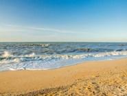 На пляже в Голубицкой