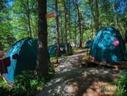 Палаточный лагерь на курорте Архыз