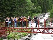 Туристы в Тебердинском заповеднике