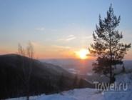Закат на курорте Абзаково