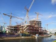 Строительство Malmö Live в 2012 году