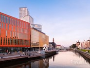 Вид на комплекс Malmö Live и набережную