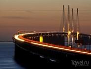 Въезд на Эресуннский мост со стороны Копенгагена