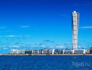 Вид на Мальмё с пролива Эресунн