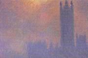 """Клод Моне. """"Лондон. Парламент. Солнце в тумане"""""""
