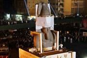Операция по перевозке статуи Рамсеса II. Фото: Lenta.ru/ AFP