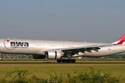 Самолет Northwest Airlines приземляется в Амстердаме. Фото: Airliners.net