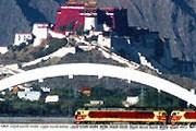 Поезд на фоне дворца Потала // Синьхуа