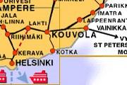 Карта спрямления пути на территории Финляндии // Финские железные дороги