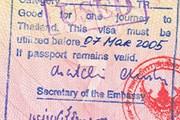 Виза в Таиланд, поставленная в визовом отделе посольства. // Travel.ru
