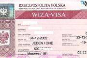 Польская виза устаревшего образца. // Travel.ru
