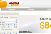 Фрагмент стартовой страницы сайта Iberia // Travel.ru