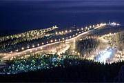 Курорт Рука вечером // ski.spb.ru