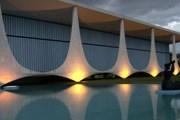 Palácio da Alvorada - первое здание в Бразилиа. Построено в 1958 году по проекту Оскара Нимейера. // aboutbrasilia.com