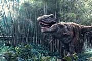 Тираннозавр будет провожать глазами посетителей парка. // cityofarabiame.com