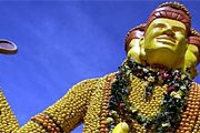 Гигантские фигуры из лимонов участвуют в параде. // feteducitron.com