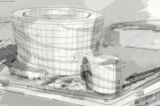 Музей будет соединяться с основным зданием стеклянным коридором. // artrings.ru