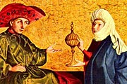 Царь Соломон и  царица Савская // Witz Konrad (1400 – 1445)