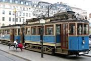 Трамвай на конечной станции Норрмальмстори (Norrmalmstorg). // Wikipedia
